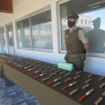 Carabineros de OS-9 Bío Bío incautaron gran cantidad de fuegos artificiales en Concepción, Talcahuano y Hualpén.